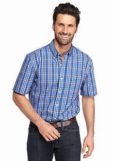 Saddlebred Short Sleeve Easy-Care Plaid Woven Shirt