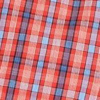 Men: Short Sleeves Sale: Red Plaid Saddlebred Short Sleeve Easy-Care Plaid Woven Shirt