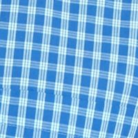 Non Iron: Casual Shirts: Medium Blue Saddlebred Short Sleeve Easy Care Medium Plaid Shirt