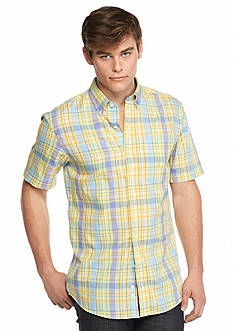 Saddlebred Short Sleeve Easy Care Plaid Woven Shirt