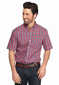 Saddlebred Short Sleeve Easy Care Medium Plaid Shirt