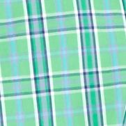 St Patricks Day Outfits For Men: Green Saddlebred Short Sleeve Easy Care Medium Plaid Shirt