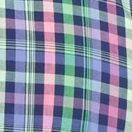 St Patricks Day Outfits For Men: Navy Multi Saddlebred Short Sleeve Easy Care Medium Plaid Shirt