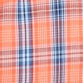 St Patricks Day Outfits For Men: Orange/Blue Saddlebred Short Sleeve Easy Care Medium Plaid Shirt