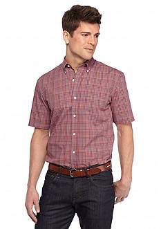 Saddlebred Short Sleeve Easy Care Mini Grid Woven Shirt