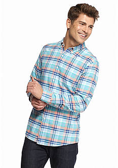 Saddlebred 1888 Tailored Plaid Oxford Shirt