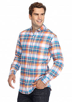Saddlebred Long Sleeve Plaid Oxford Shirt