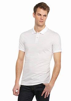 Saddlebred 1888 Tailored Fit Pima Stripe Polo Shirt