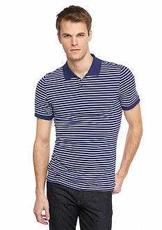 Saddlebred 1888 Tailored Fit Pima Stripe Polo Shirt