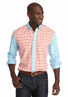 Saddlebred Long Sleeve Gingham Oxford Shirt
