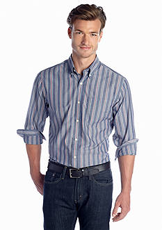 Saddlebred® Long Sleeve Wrinkle Free Woven Shirt