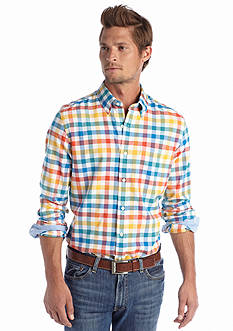 Saddlebred® Long Sleeve Oxford Plaid Shirt