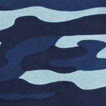 Men: Saddlebred T Shirts: Blue Camo Saddlebred Long Sleeve Raglan Henley