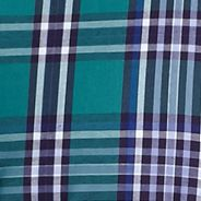 Non Iron: Purple/Green Saddlebred Long Sleeve Wrinkle Free Plaid Woven Shirt