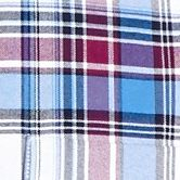 Men: Saddlebred Casual Shirts: Blue/Plum Saddlebred Long Sleeve Plaid Oxford