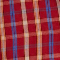 Men: Saddlebred Casual Shirts: Red Mini Saddlebred Long Sleeve Small Plaid Woven Shirt