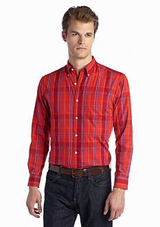 Saddlebred Long Sleeve Large Plaid Woven Shirt