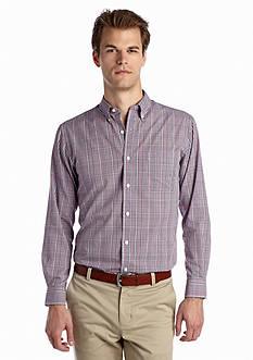 Saddlebred Long Sleeve Glen Plaid Woven Shirt