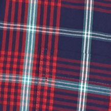 Men: Saddlebred Casual Shirts: Navy Red Plaid Saddlebred Long Sleeve Woven Shirt