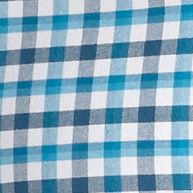 Men: Saddlebred Casual Shirts: Turquoise Gingham Saddlebred Tailored Oxford Shirt
