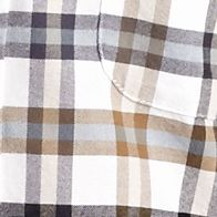 Men: Saddlebred Casual Shirts: Tan Plaid Saddlebred Long Sleeve Plaid Oxford Shirt