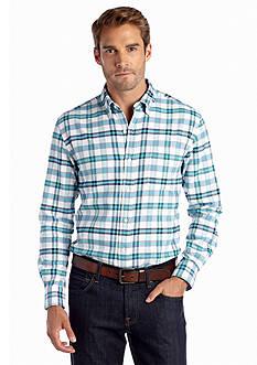 Saddlebred Long Sleeve Plaid Oxford Shirt