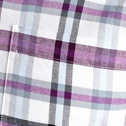 Men: Saddlebred Casual Shirts: Plum Plaid Saddlebred Long Sleeve Plaid Oxford Shirt
