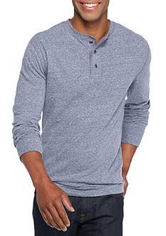 Saddlebred Long Sleeve Solid Sueded Henley Shirt