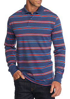 Saddlebred Long Sleeve Stripe Jersey Polo Shirt