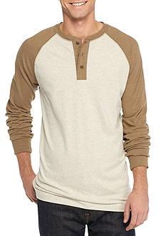 Saddlebred Long Sleeve Raglan Henley Top
