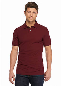 Saddlebred 1888 Tailored Fashion Solid Polo Shirt