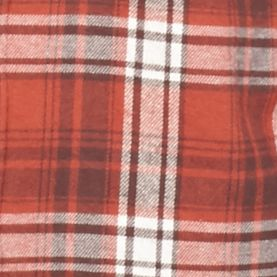 Men: Saddlebred Casual Shirts: Rust Saddlebred Long Sleeve Flannel Shirt