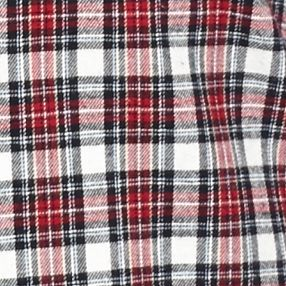 St Patricks Day Outfits For Men: Red/Black Check Saddlebred Long Sleeve Flannel Shirt