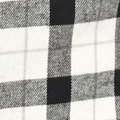 Men: Saddlebred Casual Shirts: Black/White Saddlebred Long Sleeve Flannel Shirt