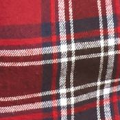 Men: Saddlebred Casual Shirts: Red/Black/White Saddlebred Long Sleeve Flannel Shirt