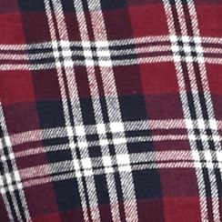 Men: Saddlebred Casual Shirts: Burgundy/Black/White Saddlebred Long Sleeve Flannel Shirt