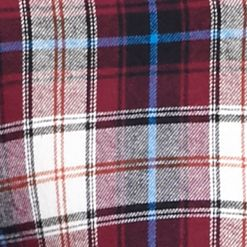 Men: Saddlebred Casual Shirts: Burgundy/White Saddlebred Long Sleeve Flannel Shirt
