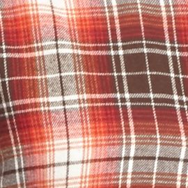 Men: Saddlebred Casual Shirts: Rust/White Saddlebred Long Sleeve Flannel Shirt