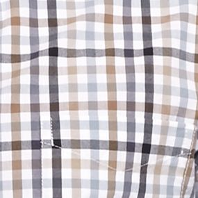 St Patricks Day Outfits For Men: Tan Gingham Saddlebred 1888 Tailored Poplin Plaid Shirt