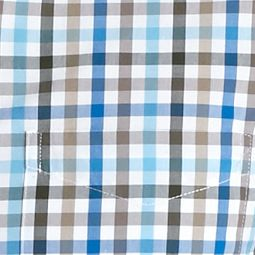 Men: Saddlebred Casual Shirts: Olive Gingham Saddlebred 1888 Tailored Poplin Plaid Shirt