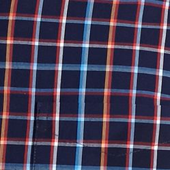 Men: Saddlebred Casual Shirts: Navy Plaid Saddlebred 1888 Tailored Poplin Plaid Shirt