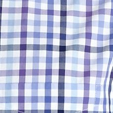 St Patricks Day Outfits For Men: Purple Gingham Saddlebred 1888 Tailored Poplin Plaid Shirt