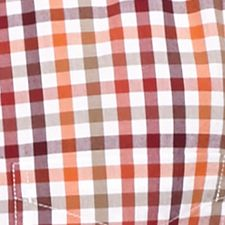 St Patricks Day Outfits For Men: Red Gingham Saddlebred 1888 Tailored Poplin Plaid Shirt