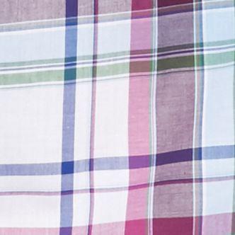 Men: Saddlebred Trends: White/Blue Saddlebred Long Sleeve Medium Plaid Wrinkle Free Shirt