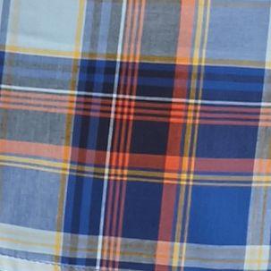 Men: Saddlebred Trends: Blue/Gold Saddlebred Long Sleeve Medium Plaid Wrinkle Free Shirt