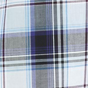 Men: Saddlebred Trends: Black/Blue Saddlebred Long Sleeve Medium Plaid Wrinkle Free Shirt