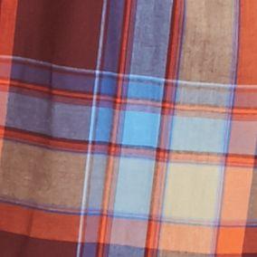 Men: Saddlebred Trends: Burgundy/Orange Saddlebred Long Sleeve Medium Plaid Wrinkle Free Shirt