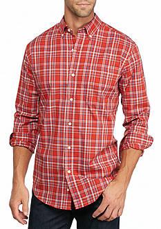 Saddlebred Long Sleeve Wrinkle Free Medium Plaid Shirt