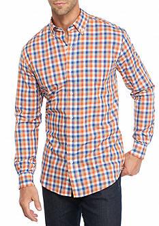 Saddlebred Long Sleeve Gingham Wrinkle Free Shirt