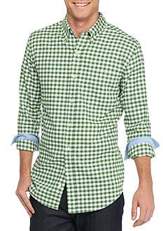 Saddlebred Long Sleeve Gingham Plaid Oxford Shirt